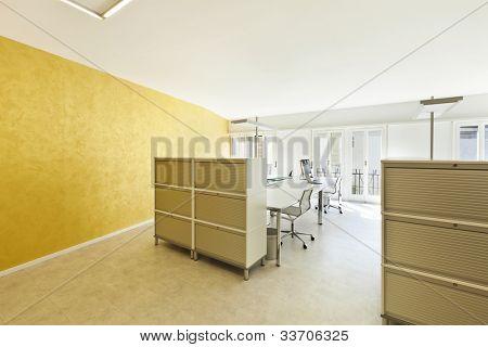 modern office interior design, large room