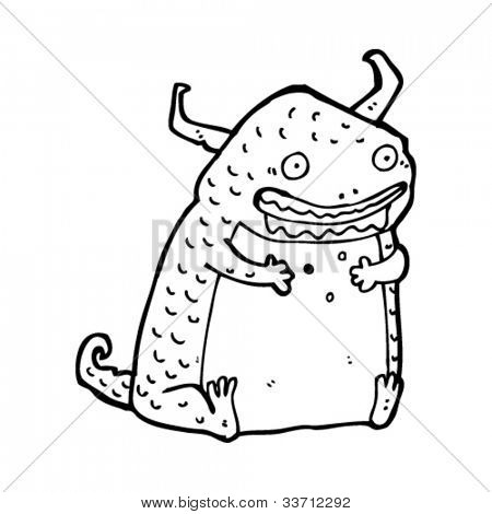 cartoon funny devil monster