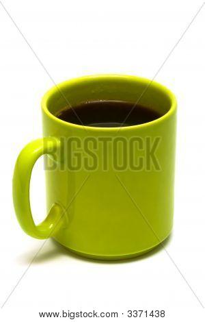 Grüne Tasse von Kaffee