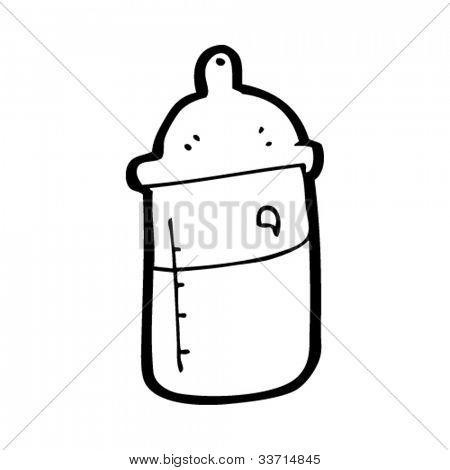 Cartoon Milk Bottle Cartoon Baby 39 s Milk Bottle