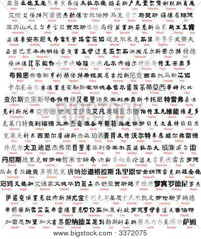 Artisic Chinese Name Writing