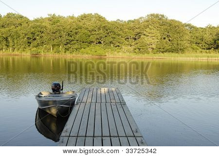 Row Boat and Dock