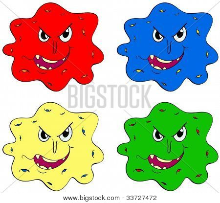 Germs and bugs in different colours