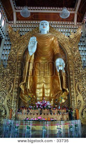 Buddha Statue Taken In Burmese Temple