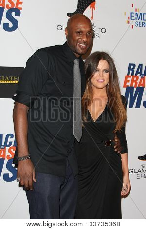 LOS ANGELES - MAY 18: Khloe Kardashian, Lamar Odom at the 19th Annual Race to Erase MS gala held at the Hyatt Regency Century Plaza on May 18, 2012 in Century City, California
