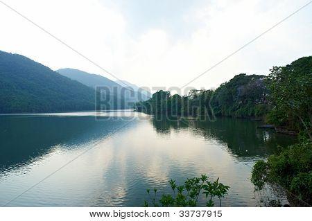 The lake Fewa, Pokhara, Nepal