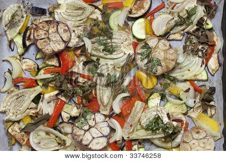 Oven Baked Summer Vegetables