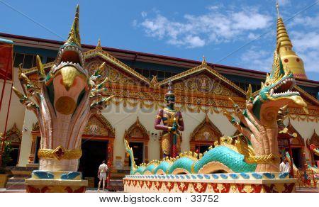 Dragon Guardian For Burmese Temple