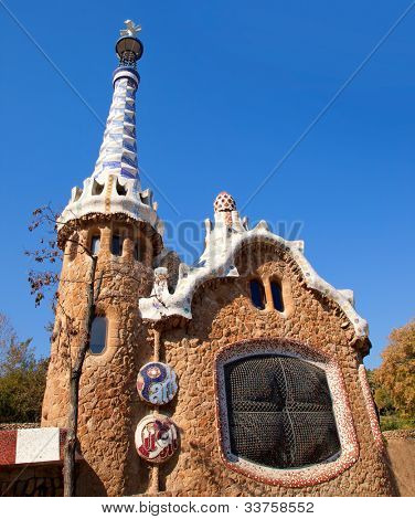 Barcelona Park Guell Gingerbread House of Gaudi modernism fairy tale