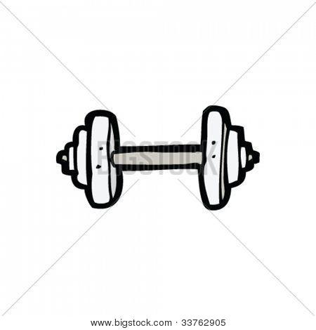cartoon gym weight