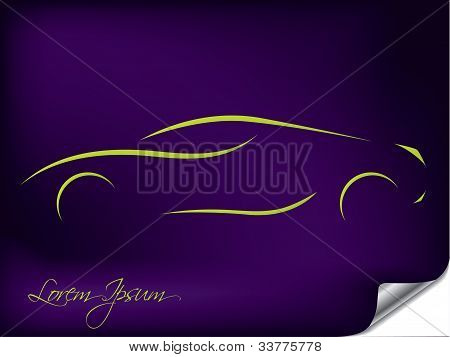 Abstract Car Silhouette Design