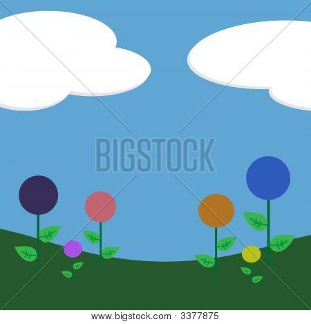 Lollipop Flowers Background