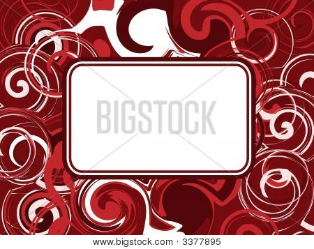 Red Abstract Swirl