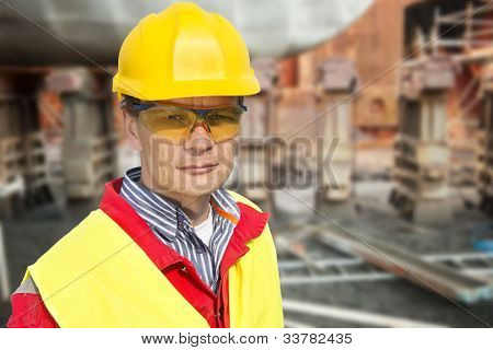 Portrait of a foreman in a dry dock