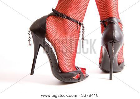 High Heels And Female Feet