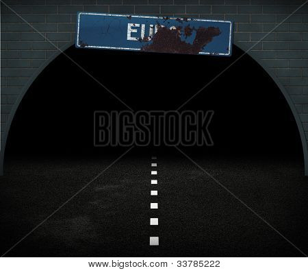 dunkle Euro Weg