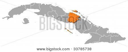 Map Of Cuba, Ciego De Ávila Highlighted