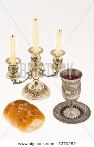 Cup Bread And Candlestick