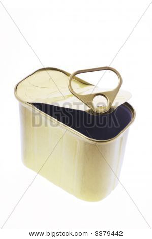Empty Ring-Pull Tin Can