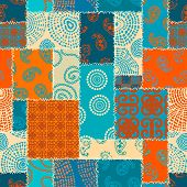 Patchwork Textile Pattern. Seamless Quilting Design Background. poster