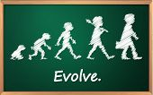 Evolution on a detailed blackboard