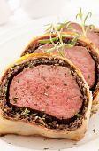 image of beef wellington  - Fillet Wellington with fresh herbs - JPG