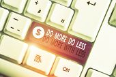 Writing Note Showing Do More Do Less Do More With Less. Business Photo Showcasing Dont Work Hard Wor poster