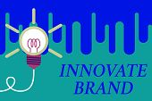Handwriting Text Innovate Brand. Concept Meaning Significant To Innovate Products, Services And More poster