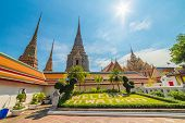 Wat Po (wat Pho), Temple Of Reclining Buddha, Royal Monastery, Popular Tourist Attractions In Bangko poster