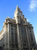 Historic Building On The Mersey poster