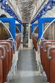 Interior Of The Second Category Train Car In Sri Lanka From Colombo To Matara. Colombo, Sri Lanka. poster