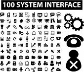 Постер, плакат: 100 системы интерфейс & администрации иконки набор вектор