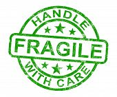 Fragile Stamp Shows Breakable Products
