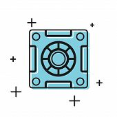 Black Safe Icon Isolated On White Background. The Door Safe A Bank Vault With A Combination Lock. Re poster
