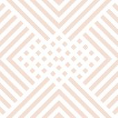 Subtle Vector Geometric Seamless Pattern With Diagonal Lines, Squares, Rectangles, Rhombuses, Tiles, poster