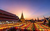 The Light Of The Beautiful Lanna Lamp Lantern Are Northern Thai Style Lanterns In Loi Krathong Or Yi poster