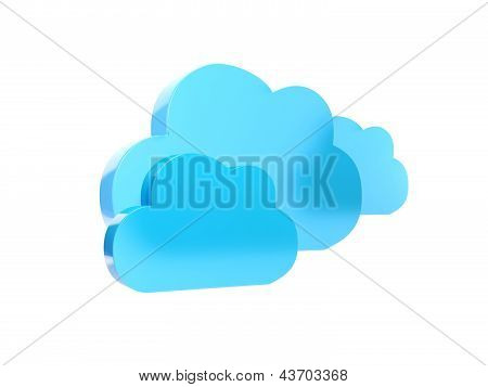 3D Illustration: Blue Cloud