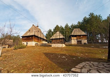 Native serbian buildings
