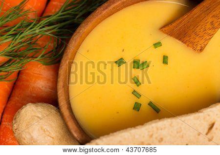 Fresh Vegan Carrot And Potato Soup
