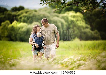 Família na fazenda
