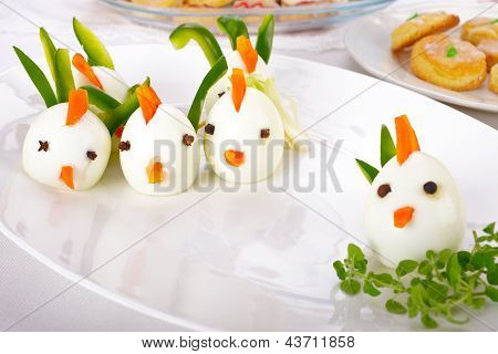 Hard Boiled Egg Chicken Family