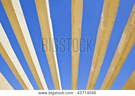 Concrete Shapes On A Rich Blue Sky
