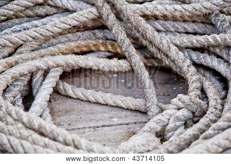 Boating Rope Coiled