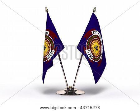 Miniature Flag Of El Paso Texas