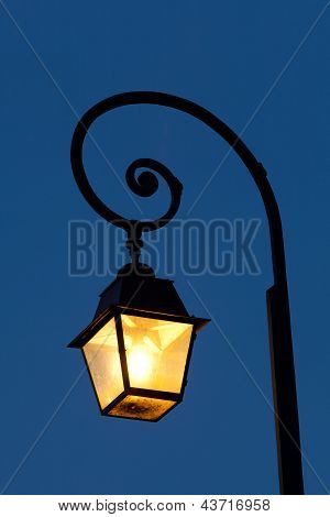 Streetlamp In Fontainebleau, Seine Et Marne, Ile De France, France