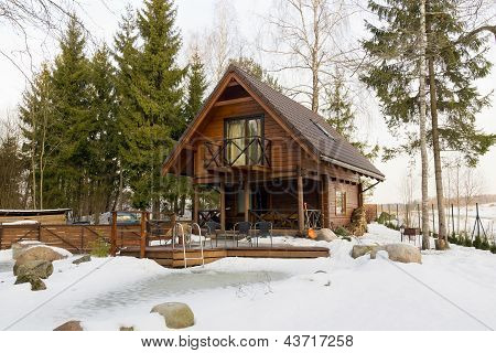 Barbecue Place In Winter