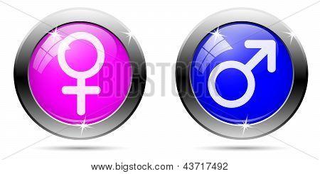 Gender Buttons Set