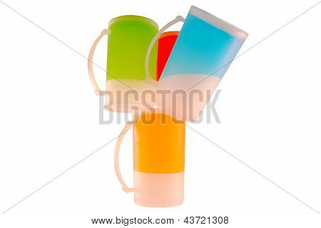 Frosted Glasses Upside Down
