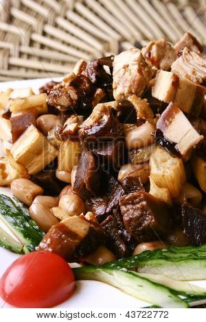 Food In China-- Pork And Peanut And Root Of Lotus