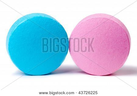 Pink And Blue Pills Macro
